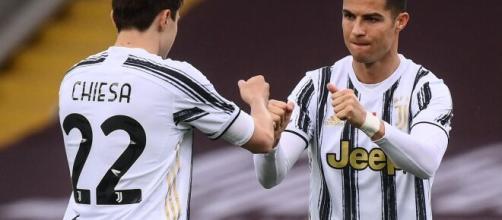 Juventus: Federico Chiesa e Cristiano Ronaldo.