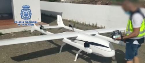 La Policía ha logrado incautar en Málaga un dron de narcotraficantes franceses, capaz de transportar 150kg (Policía Nacional)