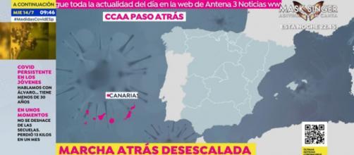 Una nueva ola de COVID-19 obliga a las comunidades a dar marcha atrás y devolver sus medidas de prevención (Antena3)