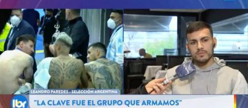 Leandro Paredes dévoile les détails de la conversation - Photo capture d'écran vidéo Twitter