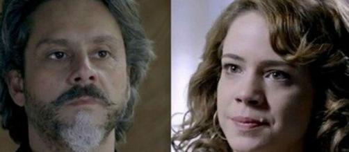 Alfredo e Cristina em 'Império' (Fotomontagem/Reprodução/TV Globo)