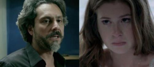 Alfredo e Ísis em 'Império' (Fotomontagem/Reprodução/TV Globo)