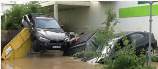 Floods in Germany and Belgium kills more than 60 as streets become raging torrents (Image source: ABC News Australia/YouTube)
