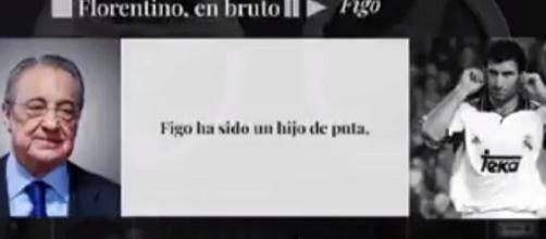 Florentino Perez en 2006 : 'Figo était un fils de p***' (Credit : El Confidencial)