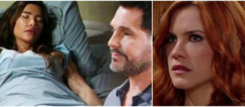 Beautiful, trame al 25 luglio: Steffy finisce in coma, Sally vuole un figlio da Wyatt.