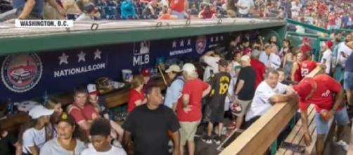 Guns go off outside Washington's national baseball stadium (Image source: WION/YouTube)