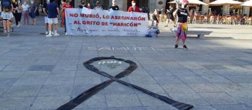 Manifestación por el asesinato de Samuel Luiz (Wikimedia Commons)
