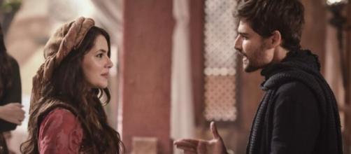Raquel e Jacó em 'Gênesis' (Reprodução/Record TV)