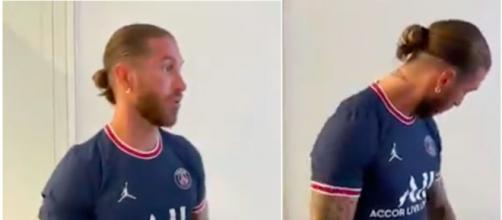 Sergio Ramos photo capture d'écran vidéo Twitter