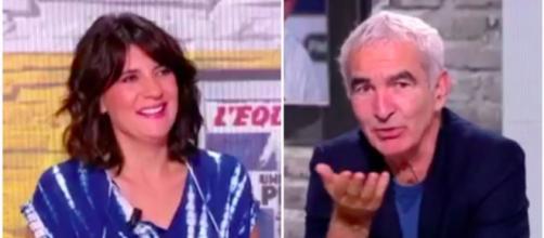 Raymond Domenech et Estelle Denis photo capture d'écran vidéo Facebook