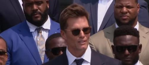 Brady speaks during the White House event (Image source: FOX 13 Tampa Bay/YouTube)