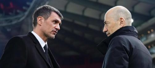 Maldini e Gazidis, dirigenti rossoneri.