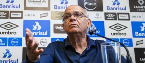 Presidente do Grêmio fala sobre contratações (Lucas Uebel/Grêmio)