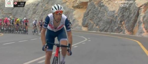 Vincenzo Nibali impegnato allo UAE Tour