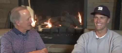 Brady smiles during his interview with Jim Gray (Image source: SiriusXM/YouTube)
