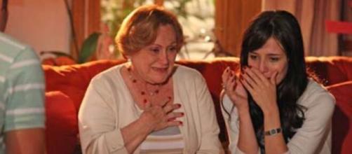 Iná e Manuela em 'A Vida da Gente' (Reprodução/TV Globo)