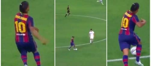 Le Show Ronaldinho régale les internautes - Photo captures d'écran vidéo Twitter