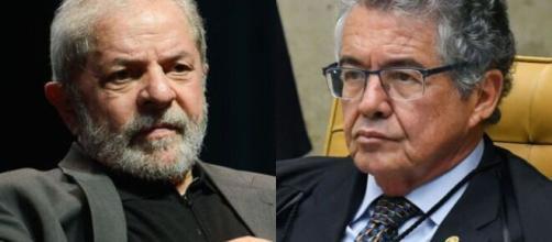 Marco Aurélio Mello foi voto vencido no STF e Lula retomou direitos políticos (Fotomontagem)