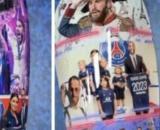 Sergio Ramos a présenté ses protège-tibias aux couleurs du Paris Saint-Germain (Credit Instagram)