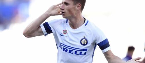 Pinamonti, attaccante dell'Inter.