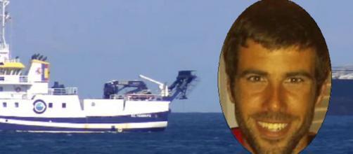 Tomás Gimeno y el buque oceanográfico (RRSS y Telecinco)