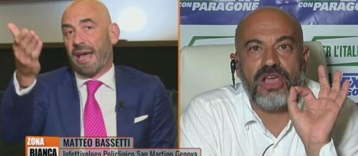 Vaccini e Green Pass, duro scontro tra Matteo Bassetti e Gianluigi Paragone a Zona Bianca.