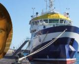 Tomás Gimeno y el buque Ángeles Alvariño, en imagen (RRSS y RTVE)