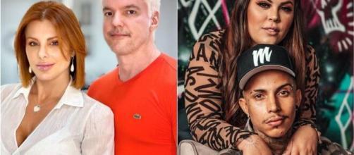 'Power Couple Brasil 5': enquete UOL tem vitória apertada de Matheus e Mari (Fotomontagem/Divulgação)