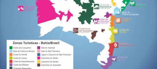 Bahia inicia atualização do Mapa Turístico que reúne 118 cidades. (Arquivo Blasting News)