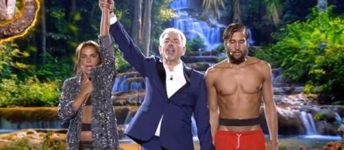 El rostro de sorpresa de Olga Moreno y el desánimo de Ganmarco Onestini. (Telecinco)
