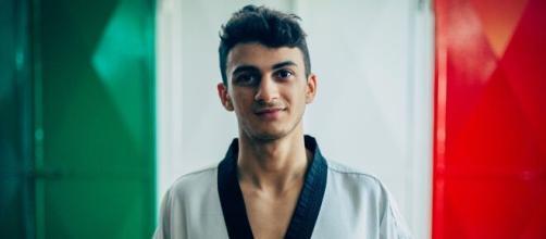 Vito Dell'Aquila è in finale per l'oro nel taekwondo.