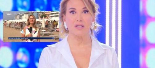 Barbara d'Urso, l'inviata di Pomeriggio 5 fa una gaffe sui saluti a Morning News (Video).