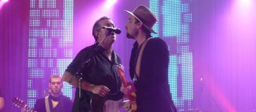 Eric Clapton durante un'esibizione.