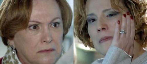 Iná e Eva em 'A Vida da Gente' (Fotomontagem/Reprodução/TV Globo)