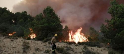 Los incendios en Cataluña, en imagen (@bomberscat)