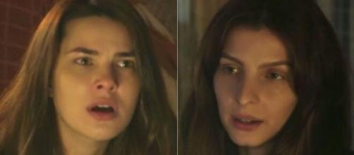 Raquel deixa Lia incrédula em 'Gênesis' (Fotomontagem/Reprodução/Record TV)