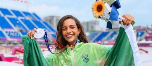 Rayssa Leal, a mais jovem brasileira a conquistar medalha em uma Olimpíada (Divulgação/COB)