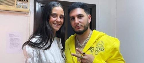 Victoria Federica y Omar Montes en la cuenta personal de Twitter del cantante (@omarmontesSr)