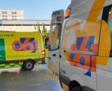 Ambulancias en el Hospital de Marbella (Servicio Andaluz de Salud)