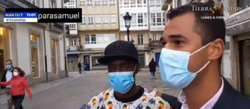 Amigos de Samuel fueron a agradecer Ibrahima Shakur su acción (captura de pantalla de Antena 3)