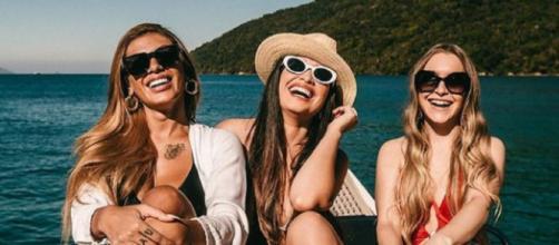 Pocah, Juliette e Carla Diaz se encontram (Reprodução/Instagram/@juliette)
