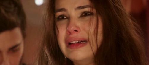Raquel dá à luz em 'Gênesis' (Reprodução/Record TV)