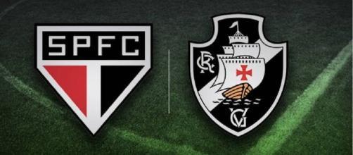 São Paulo e Vasco se enfrentam pela Copa do Brasil (Fotomontagem)