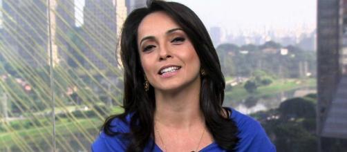 Jornalista Izabella Camargo anuncia nascimento da filha (Reprodução/TV Globo)