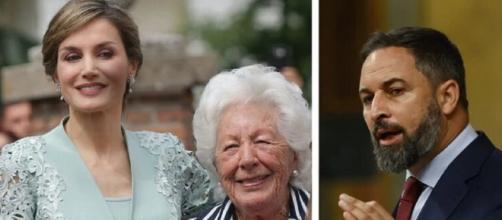 La abuela de Letizia aclama a Vox (Casa Real y Wikimedia Commons)