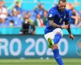Bernardeschi con la maglia della Nazionale.