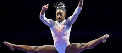 Biles gives up vault, uneven bars finals (Image source: CBS Sports/YouTube)