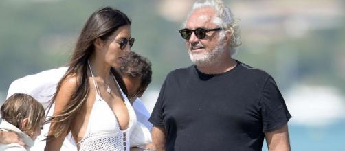 Elisabetta Gregoraci e Flavio Briatore insieme in vacanza.