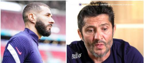 Bixente Lizarazu explique les raisons des frustrations avec Benzema - Photo captures d'écran Instagram Benzema et Twitter Téléfoot
