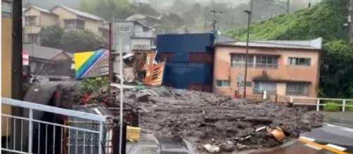 Landslide in Atami, Japan leaves at least 20 missing (Image source: Unbelievable Events/YouTube)